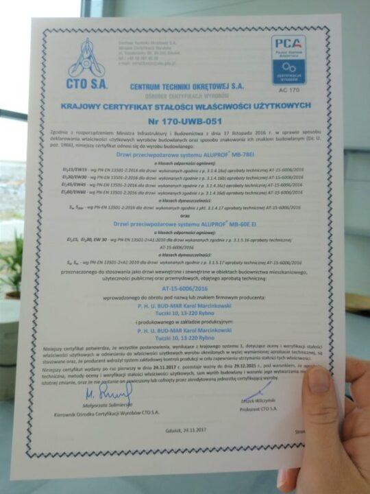 Vi har fått ett certifikat för brandsäkert snickeri!